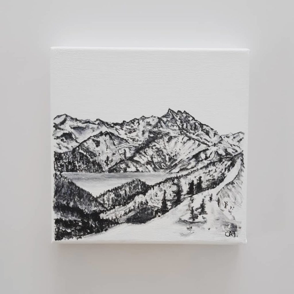 Available - Original Acrylic painting 10x10cm